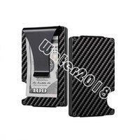Black Carbon Fiber Money Clip Upgrade Version Party Favor RFID Blocking Wallet Slim Design Credit Card Business Cards ID Holder