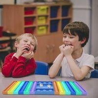 Большой размер FIDGET Игрушка Взрослые Дети Push Bubble Fidget Сенсорные Игрушки Садовый Стресс Редивер Шахматная Доска Jouet Налить аутист с двумя кубиками
