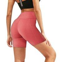 Women's Leggings Women High Waist Short Pants Summer Casual Pockets Fitness Running Gym Sports Workout Biker Bayan Tayt #TP
