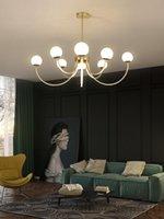 Branch di postmoderno Glass Bolla LED Lampadario Nordico Interno di Lusso Soggiorno Camera da letto Camera da letto / Black Hanging Light Fixture