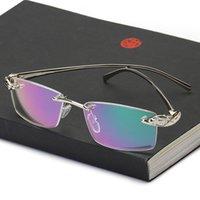 69٪ خصم مضفي نظارات النظارات بدون شفة إطارات الرجال النظارات الذهب الذكور العلامة التجارية مصمم ليوبارد نظارات فرملس لصفة الطبية البصرية uag8