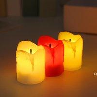 12 unids / set Halloween LED VELAS VELAS DE TEMPORIZADOR FLAMELES Vela Tealights Luces eléctricas operadas por batería Parpadeo de tealight para la boda DHD10821