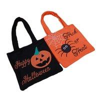 Truque de Halloween ou travessura de doces saco de doces favor Favor Sacos de presente Pumkin Spider Pattern Bolsa não tecida