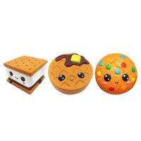Caixas de Telefone Celular Encantos Jumbo Biscoitos Biscoitos Pão Bonito Squishy Lento Rising Soft Squeeze Brinquedo Aliviar Stress Funny Kid Crianças Adultos para