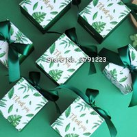 Gift Wrap Sen Department Green Creative Square Candy Box Wedding Favor Chocolate Party Supplies Christmas Baby Shower