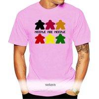 Os t-shirt dos homens Meeple são camiseta para o jogo do jogo de tabuleiro que jogam o carcassonne etc! T do estilo do estilo da forma, tshirt impresso personalizado