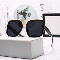 Moda Gafas de sol Diseño Marco de metal Glasse Para Mujeres Hombres Doble Lentes transparentes Vidrio Piloto Gafas Transparente Color Gafas de sol