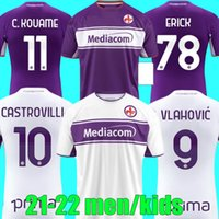 2021 2022 Fiorentina Futbol Formaları 21 22 Ribery Callejon Prens Pezzella Chiesa Futbol Gömlek Vlahovic Maillot De Ayak