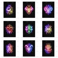 Paintings Aquarius,Sagittarius,Capricorn,Gemini,Aries,Taurus,Scorpio,Virgo,Pisces,Leo,Libra Neon Sign Wall Art Prints Poster Home Decor