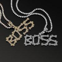 Pendant Necklaces OMYFUN Custom Name Letters Chain A-Z Initial Necklace&Pendant Men's Zircon Tennis For Men Hip Hop Jewelry Bijoux