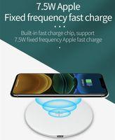 Min.1 stücke drahtlose ladegerät pad 15w schnelle ladung für qi intelligentes telefon, uhr ohrhörer aple iphome