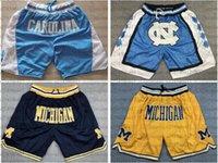 Men Basketball Jerseys North Carolina State University 15 Carter 2 Carmelo\rAnthony Short Just DON Of Michigan Pocket Shorts S-3XL