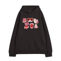 Hoodies Plus Size Sweatshirt Women and Men Couples Hoodies Fashion Casual Autumn Winter Hooded Sweatshirt Cartoon Pullover