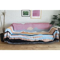 Blankets 2021 Nordic Sofa Covers For Living Room Geometric All Inclusive Couch Cover Anti Slip Throw Blanket Thick Home Decor