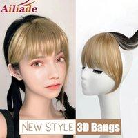 3D 컬러 색상 일치 합성 프린지 클립 뱅 스트레이트 가짜 머리 조각 내열성 강타 머리 확장에 클립