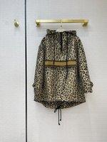 الشارع الشهير أزياء ليوبارد معطف للنساء الراقية ماركة زائد حجم طويل الأكمام مقنع أعلى جودة المدرج تصميم سترة سيدة سترات المرأة