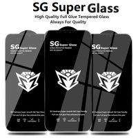 Premium SGスーパー強化ガラススクリーンプロテクター用iPhone 12 Mini 11 Pro Max X XS XR 6 7 8 Plus Samsung A32 4G A52 A72 5G Huawei Honor 8X 9 C Y9A Y7A Xiaomi Poco X3 Redmi K40