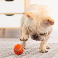 Pequeno animal suprimentos de látex mastigando bola estridente brinquedos futebol fetch jogar brinquedo para cachorrinho médio animais de estimação em estoque