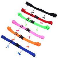 Unisex Laufende Rennnummer Polyester + Kunststoff Gürtel Taille Pack BIB Halter für Triathlon Marathon Radmotor mit 6 Gelschleifen Outdoor-Taschen