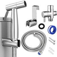 Bath Accessory Set Bidet Nozzle Toilet Connector   Tee 7 8 Gauge Spray Tool Faucet Adapter Bathroom Fitting Valve