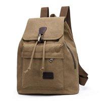 Backpack Women's Vintage Canvas Travel Student School Bag Leisure Bucket