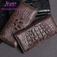 Portafogli simbolo del portafoglio di lusso di ricchezza portafoglio di lusso lungo stile di coccodrillo vera pelle di coccodrillo semplice design della qualità del marchio
