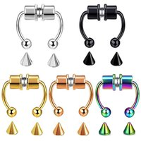 Falso Piercing Naso anello in lega naso Piercing Hoop Settum anelli per uomini donne gioielli regali moda magnetica piercing falso 947 T2