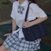 Omuz Çantaları 2021 Japon Tasarımcı Vintage Çanta Marka Büyük Üniforma Messenger JK Okul Deri Çanta Kız Casual Totes