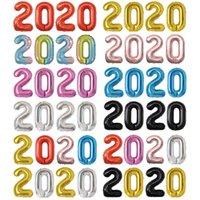 """2021 بالونات الرقمية الأمريكية مجموعة 40 """"حجم كبير الألومنيوم فيلم بالون السنة الجديدة الديكور YLA630"""