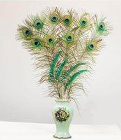 Party Event liefert natürliche Straußfedern Hochzeit DIY 70-80cm lange Pfauenfeder für Homedekorationen