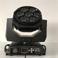 효과 이동 LED 줌 워시 7x15W 4in1 미니 꿀벌 눈 Lyre 헤드 RGBW 빛