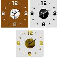 Wall Clocks 2021 Modern Design Clock 3D DIY Quartz Fashion Acrylic Mirror Stickers Living Room Home Decor Horloge Silver Golden