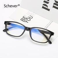Schever Marke Vintage Klare dekorative Brillenrahmen Männer / Frauen Kleine Rechteckbrillen für optische Linse Kurzansicht Eyewear Mode Sung