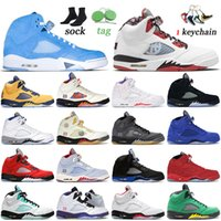 Newest Arrival Basketball Shoes Jumpman 5 5s UNC Quai 54 Mens Women High OG Trainers Size 40-47 Sail Alternate Bel-Airs Black Muslin Raging What The Sports Sneakers