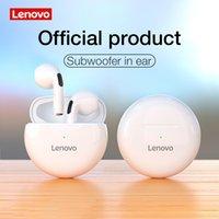 100% Original Lenovo LivePods HT38 Tws Bluetooth-Kopfhörer Mini-drahtlose Kopfhörer-Ohrhörer mit Mic Sport 9D-Stere-Bass-Headset