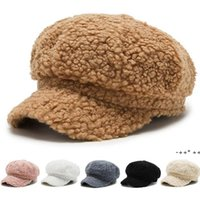 Berets damska jagnięca wełna czapka z daszkiem baseballowa jesień i zima moda na wszystkie mecze malarz ośmiokątny LLF11286