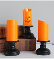Halloween Pumpkin Candle Light Party Decorations LED electronic Pumpkins Atmosphere Decoration Glowing Toys Squash Candles lamp DHD10251