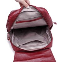 Venta al por mayor-Lanyibaige Mochilas de lujo Mochilas de la PU de alta calidad Mochila de cuero femenino bolsas de la escuela para la muchacha de la moda de la moda de la gran capacidad de viaje ba