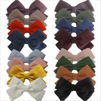 Linen Cotton Baby Kids Girls Headband Bowknot Hair Clip Solid Plaid Hairband Striped Polka Dot Ponytail Rope Accessories