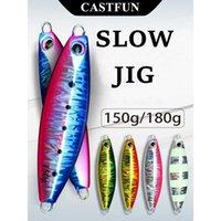 Castfun بطيئة Blatt S القفز إغراء الطعم الاصطناعي الصيد s المعدنية رقصة 150 جرام 180 جرام يتوهج في الصيف الداكن 210622