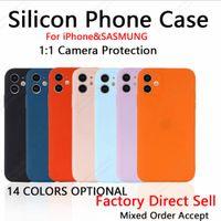 Защита камеры Прямой край Смешивания для мобильных телефонов CILLICON TPU для iPhone 12 11 XR XS MAX 6 7 8 плюс Samsung S21 S20 NOTE20 A12 A32 A42 A52 A72 A21S Matte Skin Skin Case