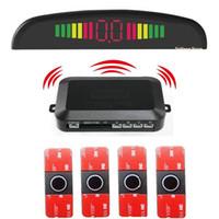 Auto Rückansicht Kameras Parking Sensoren Original 16.5mm 4 Auto Reverse Backup Radar System Detektor de Led Display Wireless Sensor Kit