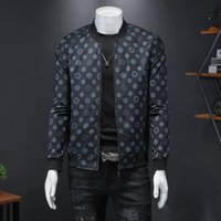 High Quality Men's Jacket Great Designer O-neck Collar Classic Dots Male Outerwear Coat Big Size Clothes 4XL 5XL 2762 Jackets