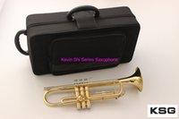 Professionelle YTR-2335 Trompeteninstrumente Gelb Messingkörper B Flat Trompeta Musikinstrument BB Trompette Made in Japan