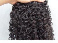 Clipe brasileiro em extensões de cabelo de trama de cabelo encaracolado kinky não transformadas curly cor negra natural cor preta humana pode ser tingido