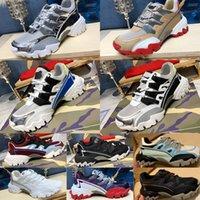 DHL 20SS Mens дизайнерские альпинисты кроссовки в кожаных и тканевых зеркальных эффектах роскошные туфли мужчины женщины с коробкой