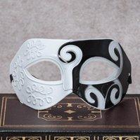 T jazz prins masker half gezicht platte hoofd hard plastic gesneden spray verf partij masker Halloween bal