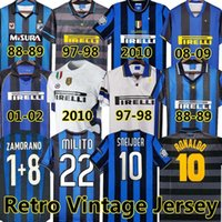 Inter Finals Soccer Jerseys 2009 2010 Milito Batistuta Sneijder Zanetti 10 11 02 03 08 09 Milaan Retro Pizarro Voetbal 1997 1998 97 98 99 Djorkaeff Baggio Ronaldo