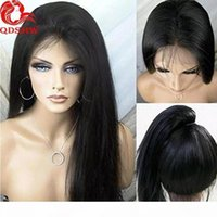 360 Frontal Full Lace Human Hair Wigs For Black Women Straight Pre Plucked Virgin Brazilian 360 Lace Front Wig Glueless With Bleached Knots