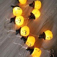 Dizeler 2021 Kişilik 1.5 m / 3m / 4.5m 10/20/30 LED Cadılar Bayramı Cadı Şapka Kabak Işıkları Asılı Parti Korku Atmosfer Işık Fabrika